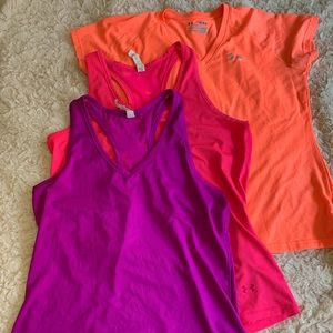 Under Armour Women's Workout Shirts (3 pack)